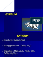 gypsum products in dentistry