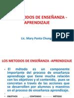 LOS METODOS DE ENSEÑANZA -APRENDIZAJE    X  MARY PANTA
