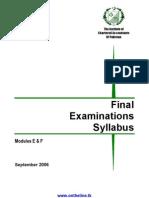 Module E & F Final