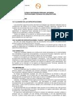 Clinica Privada Especificaciones Tecnicas