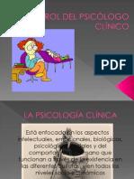 EL ROL DEL PSICÓLOGO CLÍNICO