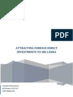 FDIs in Sri Lanka