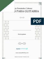 FERNANDEZ CABRERA - 10 Duos Para Guitarra (Two Guitars - Due Chitarre)