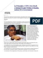 UNP's New Draft Constitution To Submit People Within 6 Months After The Formation Of A Government