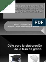Guía para la elaboración de la Tesis en Ciencias Sociales y Ciencias de la Salud