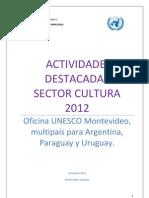 Actividades Cultura 2012unesco