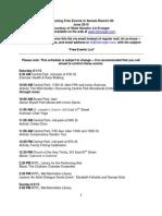 Sen. Krueger's Free Events List - June 2013