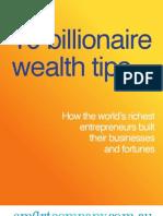 10 Billionaire Wealth Tips
