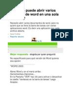 Como Se Puede Abrir Varios Archivos de Word en Una Sola Ventana