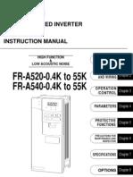 Mitsubishi A500 Series VFD Manual