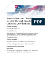 Stonewall Democratic Club of New York City Borough President Candidate Questionnaire-Melinda Katz