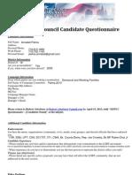 Sdnyc Questionnaire- Annabel Palma