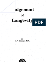Judgement of Longevity by D.P. Saxena