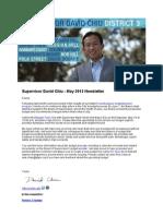 Supervisor Chiu May 2013 Newsletter