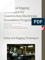 Safety and Rigging Techniques for Construction Electrician Foundation Program Surrey BC Canada