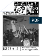 Criminal Behavior Fanzine, Issue 10