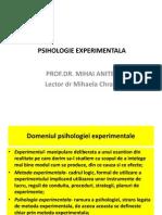 Experimentala IDD Curs 1 2009