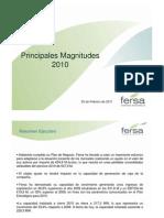 Fersa Principales magnitudes 2010