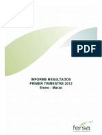 Fersa Informe resultados primer trimestre 2012