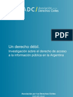 ADC El Accceso a la Información en la Argentina mayo13