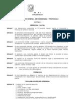 Reglamento de Ceremonial y Protococolo