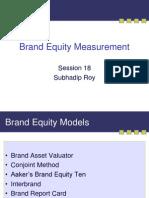 Brand Equity Measurement