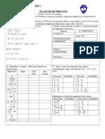 Taller Denumeros y Lenguaje Algebraico