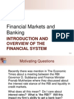 Introduction and Overview of Financial System