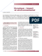 A Rosol Anthropique Impact Climatique Et Environnemental