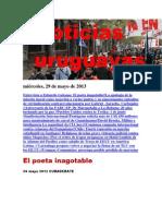 Noticias Uruguayas miércoles 29 de mayo del 2013