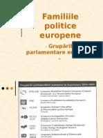 Familiile politice europene