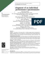 Individual Work Performance