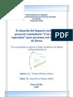 Evaluación del impacto social del proyecto... Yelineis Pacheco
