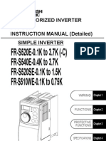 Mitsubishi S500 Series VFD Instruction Manual