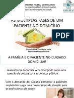 AS MULTIPLAS FASES DE UM PACIENTE NO DOMICÍLIO