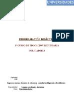 PROGRAMACIÓN - OPOSICIONES Ingreso Cuerpos Docentes Secundaria ESO y Bachillerato Junio 09 CATALUÑA