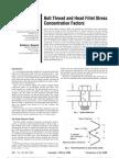 Bolt Thread and Head Fillet Stress Concentration Factors