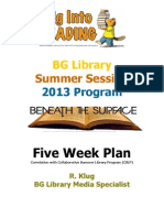 2013 BG Library Summer Library Program Five Week Plan