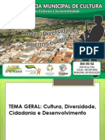 conferência de Cultura em Ipaumirim- Ce