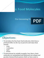 4 Basic Food Molecules Interesting Food Systems 2013