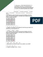 TEST 10 Numéricos o Matemáticos