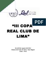 Bases III Copa Real Club de Lima