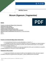 Bacon Francis Novum Organum Fragmentos