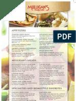 Mulligan's Lunch/Dinner Menu