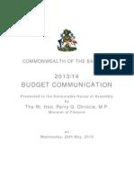 Budget Communication 2013-14