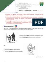 Worksheet 1 9th Grade II Term - Passive Voice
