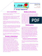 5th Grade April Newsletter