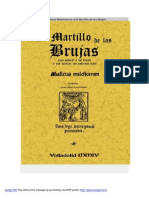 El Malleus Maleficarum o El Martillo de Las Brujas