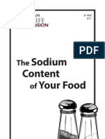 Sodium Content of Your Food b1400