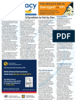 "Pharmacy Daily for Thu 30 May 2013 - EBOS/Symbion, Guild urges cooperation, AstraZeneca buy, ""digital pharmacy\"" and much more"